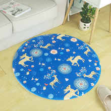 С цветочным рисунком олень круглый ковер для Гостиная детей Спальня ковры Компьютер стул, коврик гардероб ковры