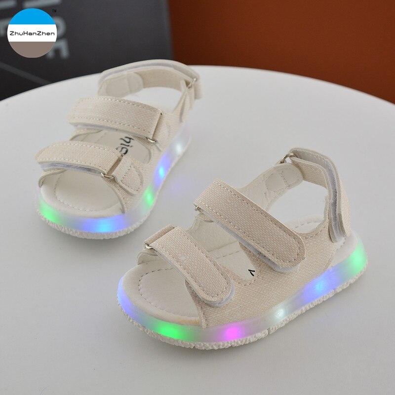site réputé 5ed83 827d1 € 9.28 10% de réduction|2018 été 1 à 3 ans enfants sandales brillant  enfants chaussures décontractées bébé garçon et fille chaussures de plage  bas ...