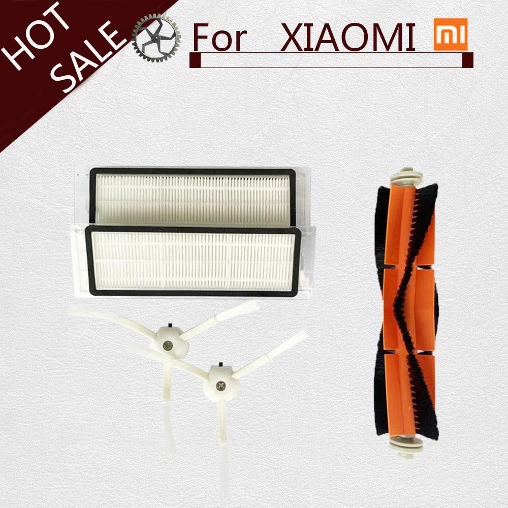 Xiaomi Robot Vacuum Parts Pack of HEPA Filter, Main Brush, Cleaning Tool, Side Brush for mijia / roborock Vacuum Cleaner