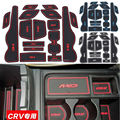 16Pcs Anti Non Slip For Honda CRV 2012 -14 Accessories LOGO Words In Car Stickers Door Groove Cup Gate Slot Mat Pad Car-Styling