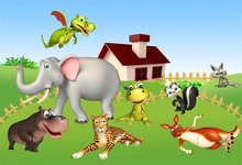 Laeacco Cartoon Baby Shower Safari Scene Party Photographic Backgrounds Customized Photography Backdrops For Photo Studio