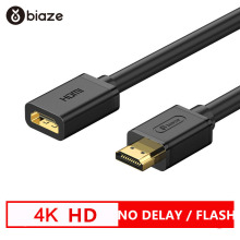 Biaze 0.5M HDMI Extension Cable HDMI to HDMI 2.0 Cable 4K*2K 3D Video Cable for Xiaomi Projector Nintend Switch for PS4 TV Box