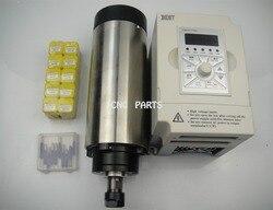 Wrzeciono frezarskie CNC ER16 1.5KW wrzeciona chłodzenia powietrza + 10 sztuk ER16 tuleje zaciskowe + 1.5KW falownik VFD + cnc engravin bity