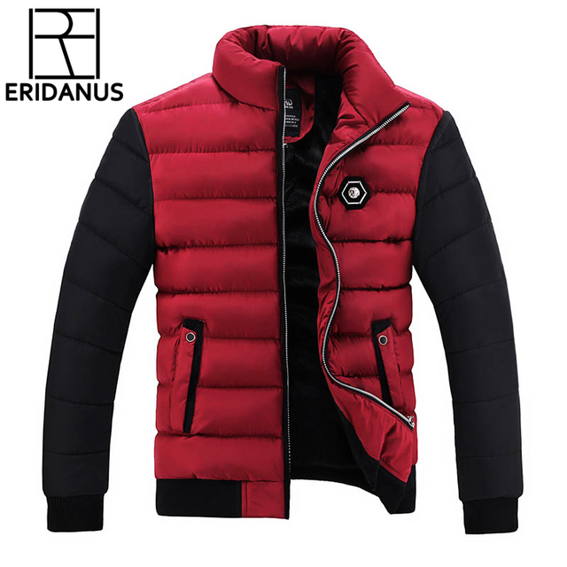 Big Promo Winter Jacket Men Coats 2017 New Slim Fit Stand Collar Cotton-Padded Brand Fashion Parkas Coats Jackets Outerwear 3XL 4XL X396