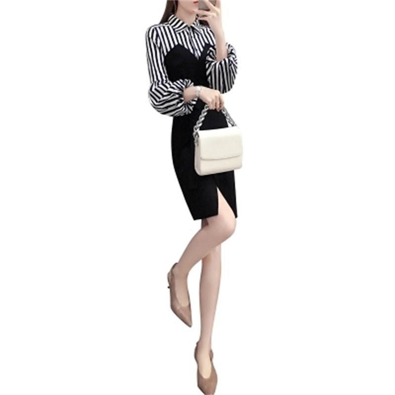 Couture Printemps 1 D'été Nouveau Robe Manches Féminine Mince Et Tempérament Lanterne Bande Y6ybf7g