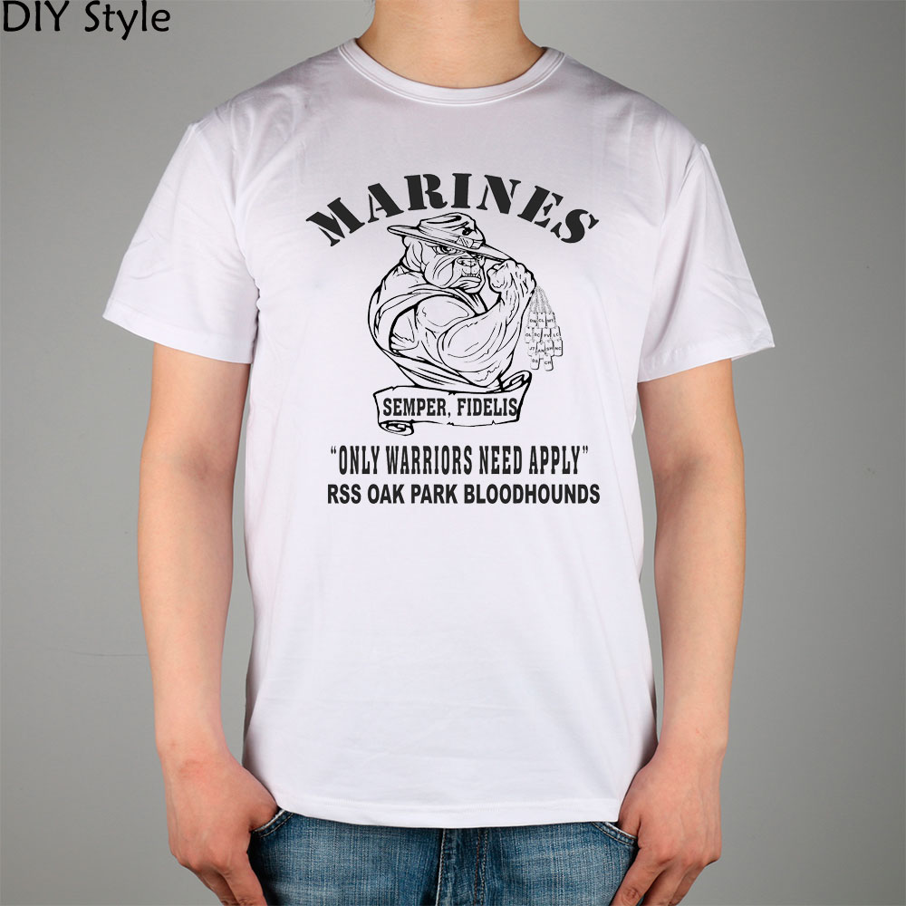 usmc marine corps short sleeve t shirt top lycra cotton men t shirt new diy style in t shirts. Black Bedroom Furniture Sets. Home Design Ideas