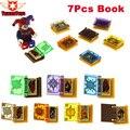 7 unids/lote caliente nexus caballeros jestro libros de magia juguetes bloques de construcción de mini ladrillos figuras juguetes para los niños regalos lepin
