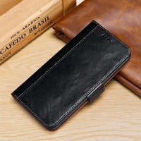 Genuine Real Leather Luxury Oil wax Vintage stitching Flip wallet Cases for iPhone Xs Max XR X 8 Plus 7 6 6s Plus w/ Phone Stand
