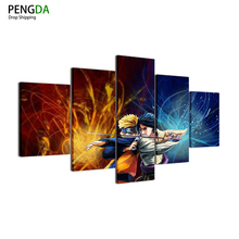 Naruto Sasuke 5 Piece canvas wall Art