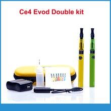 บุหรี่อิเล็กทรอนิกส์คู่EVOD CE4ชุดเริ่มต้นบุหรี่อิเล็กทรอนิกส์650 900 1100มิลลิแอมป์ชั่วโมงEVODแบตเตอรี่CE4ฉีดน้ำCigอีชุดซิปกรณีชุด