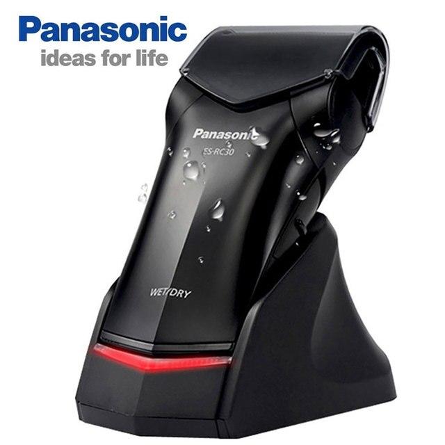 Professionale Panasonic Portatile Rasoio Elettrico ES RC30 Ricaricabile Singola Testa Dyr e Bagnato Per Gli Uomini Alternativo Rasoio Elettrico