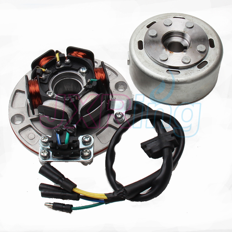 Magneto Stator rotor kit with light FOR (YX YINXIANG 150cc/160CC Engine) Dirt Pit Bike Motorcycle Pit Pro Automic Electric Parts