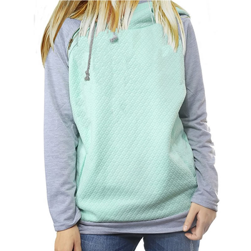 2018 nueva moda sudaderas con capucha para mujeres decoración cremallera Casual de manga larga de primavera y otoño suéteres mujer sudaderas con capucha