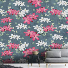 Hand painted flower tooling wall TV background wall professional production mural wholesale wallpaper poster photo wall hand painted color oil painting background wall professional production mural factory wholesale wallpaper poster photo wall
