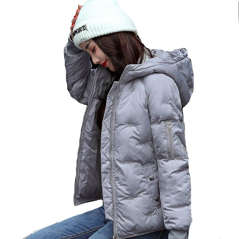 Hooded warm winter jacket women plus size 3Xl 4Xl cotton padded jaqueta feminina inverno short outerwear womens coat parka jaqueta feminina inverno new autumn winter women jacket cotton padded casual slim coat emboridery hooded parkas plus size 3xl