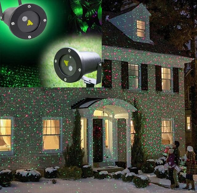 navidad impermeable elf navidad roja verde de la parte actora centelleo exterior luces lser navidad proyector