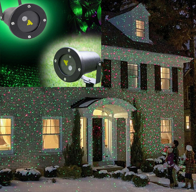 xmas waterproof elf christmas lights red green moving twinkle outdoor christmas laser lights projector decorations for