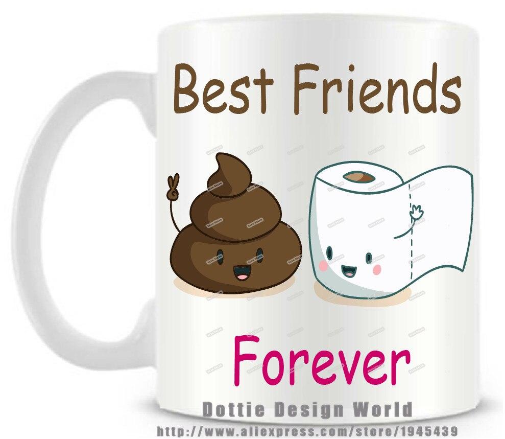Best Friend Funny Novelty Travel Mug 11oz Ceramic White Coffee Tea