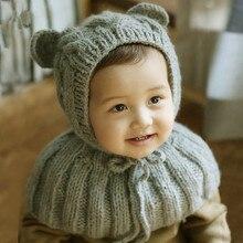 Ребенка Шаль Шапка Младенческой Теплые Ручной Трикотажные Шапочки Hat Новорожденного Аксессуары