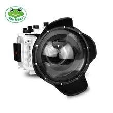 Su geçirmez muhafaza şarkı için A7R III kamera sualtı 40m fotoğrafçılığı geniş açılı Dome Port dijital elektronik kontrol kolu