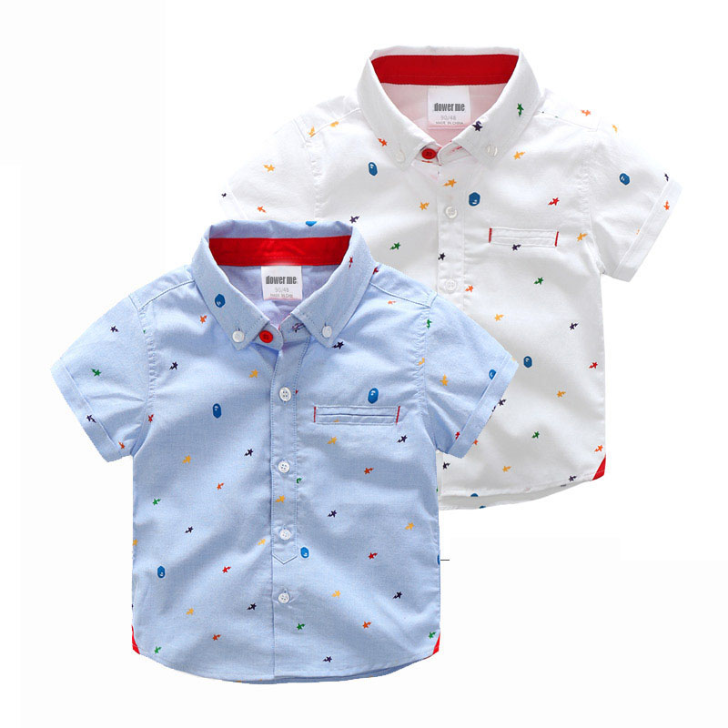 8b4a11c0 Baby Cartoon Top 2017 Summer Children's Clothing Fashion Kids Boys Short-sleeve  Shirt Turn Down