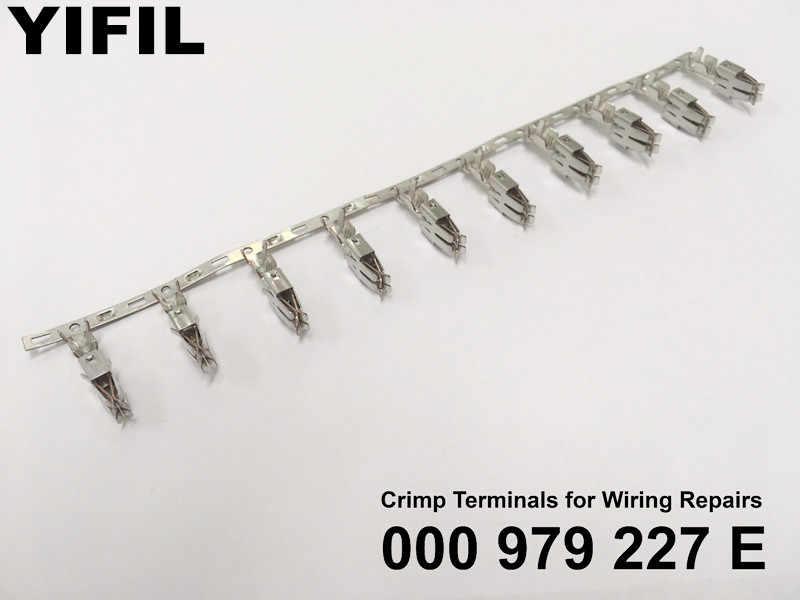 50/100pcs/lot Fuse Box Crimp Terminals (Pins) For Repair Wire 2.50 mm2 For  Audi Volkswagen Skoda Seat 000979227E| | - AliExpressAliExpress