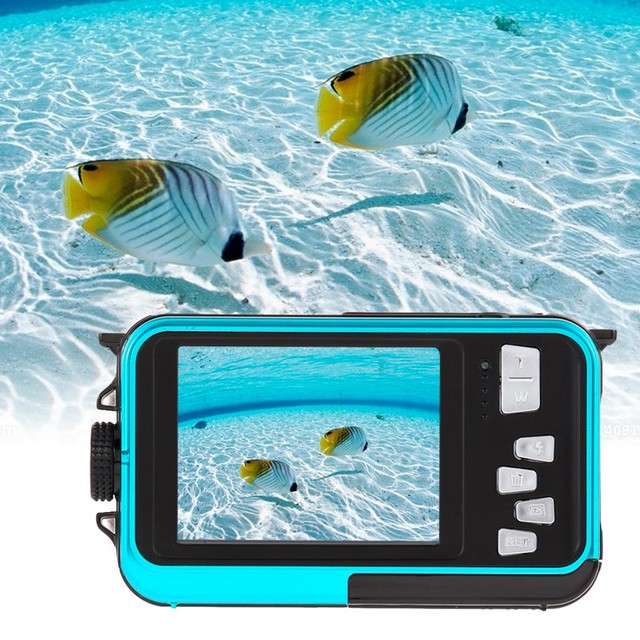 Dual Screen 3M underwater Video Camera HD 16X Digital Zoom 24MP Max Waterproof Digital Camera