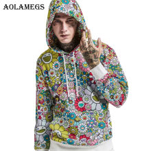Aolamegs Hoodies Men Sunflower Printed Camouflage Hooded Pullover Sweatshirt Men High Street Fashion Hip Hop Hoodie Streetwear(China)