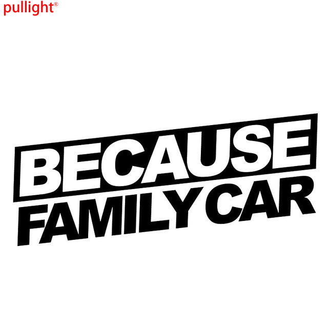 Online Shop BECAUSE FAMILY CAR Reflective Funny Car Stickers JMD - Cool boat decals