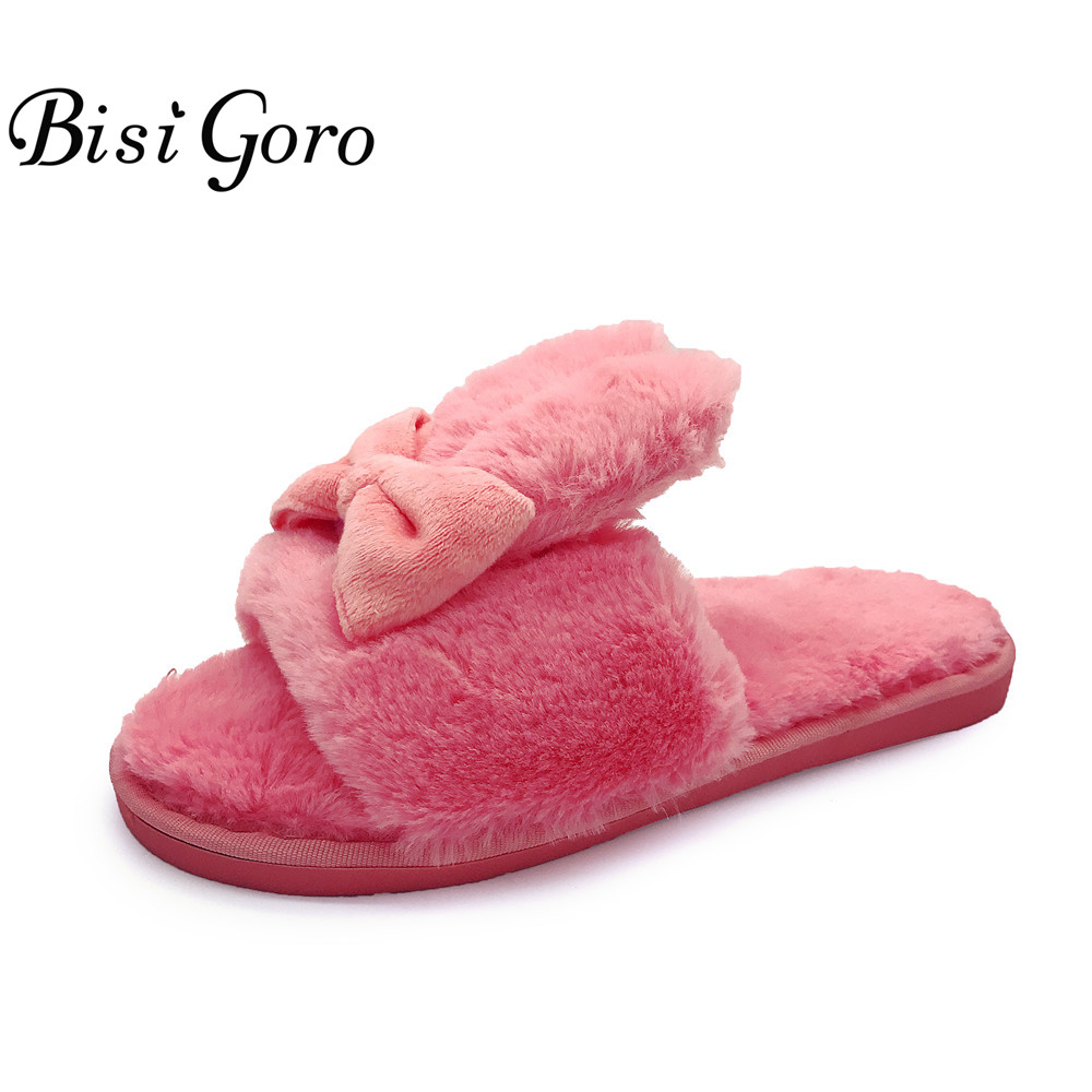 2016 sweet stripe bow fish head slippers cotton soft and comfortable open toed slippers indoor skid women slippers BISI GORO Cute Women Slippers Winter Warm Shoes For Bedroom Comfortable Soft Sole Indoor Home Floor Slippers with Bow