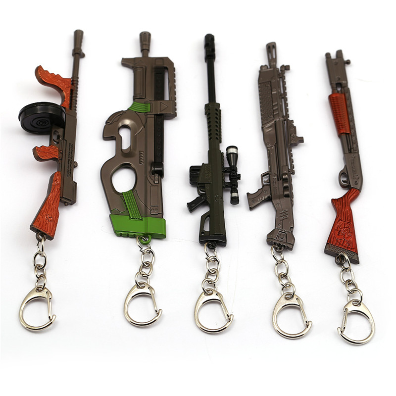 Brand New 3D Stainless Steel Toy Thompson Tommy Gun Fan Pendant Chain Necklace
