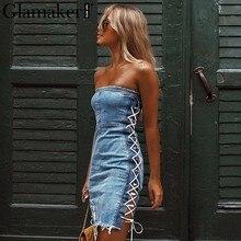 fde249b6839f Strapless Jeans Dress - Compra lotes baratos de Strapless Jeans ...