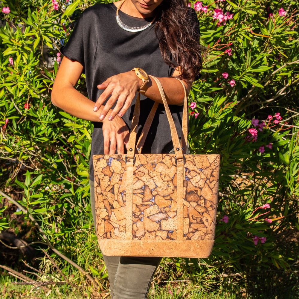 Cork bags cork handbag for women natural cork Crack effect handmade Original fashion handbag BAG-318-A цены онлайн