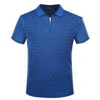 BILLIONAIRE TACE&SHARK T shirt men 2018 summer zipper collar comfort elegant hrombus pattern fitness male M 5XL free shipping