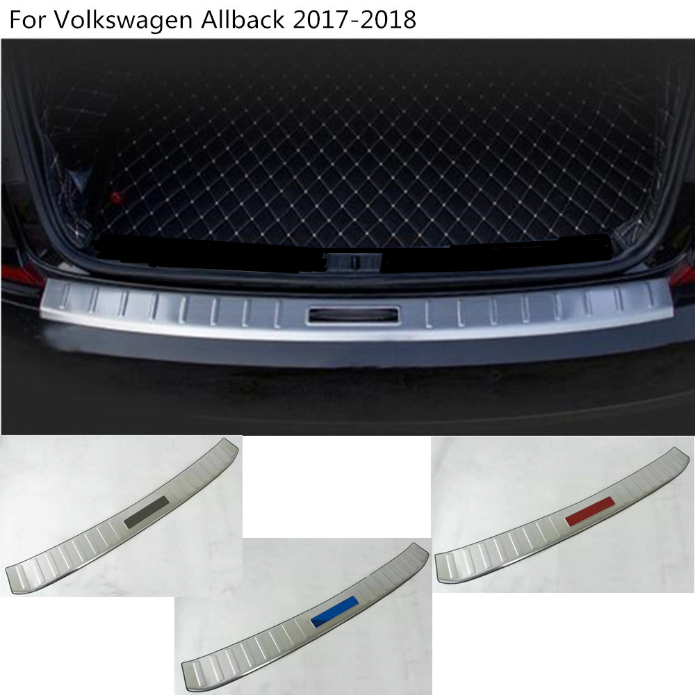 Car rear outside bumper trunk trim cover plate pedal 1pcs For VW Volkswagen Passat B8 Sedan Variant Alltrack 2015 2016 2017 2018 free shipping 2 pcs lot rear trunk gas lift supports sturts car gas springs shocks for vw sedan only volkswagen passat audi a4