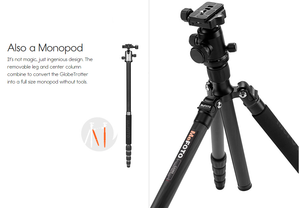MeFOTO A2350Q2 GlobeTrotter Aluminum Professional Tripod Kit Portable Digital Video Camera Tripod With Stable Ball Head For DSLR in Tripods from Consumer Electronics