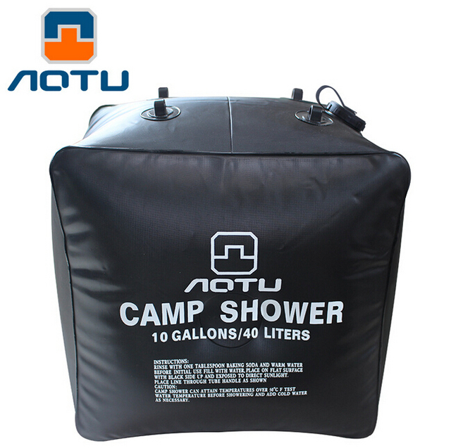 AOTU New High Quality Outdoor Camping Solar Shower Bags climbing hiking backpack bagpack 40L Portable Water Bag Outdoor Bath 279