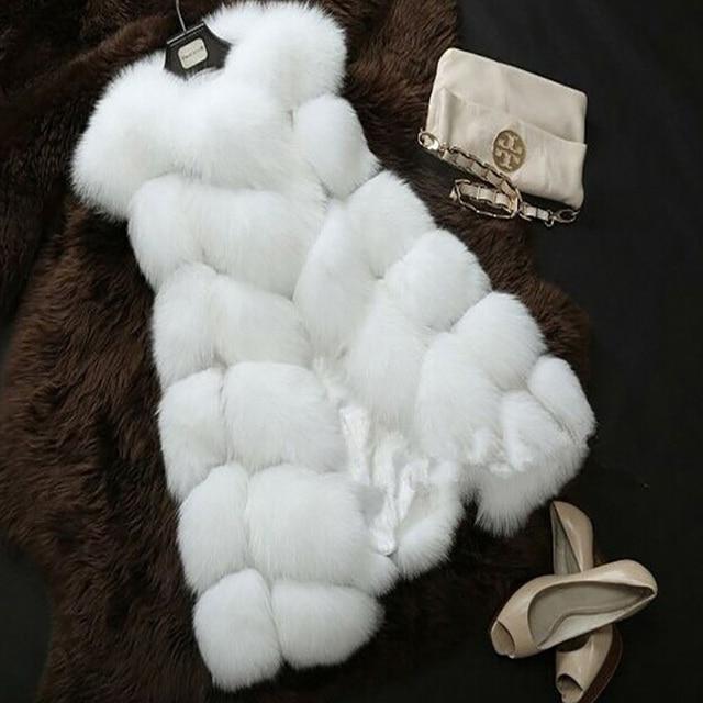 FLULU Winter Casual Faux Fur Coat Women 2018 Vintage Fashion Warm Slim Sleeveless Coat Solid Vest Female Jacket casaco feminino 3