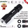 Супер Тактический 4000LM CREE XML T6 LED Увеличить Фонарик Тактический Факел Увеличить Свет Лампы 170128