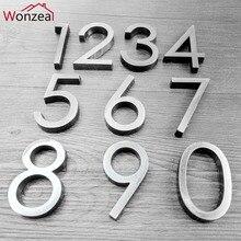 58 мм 0123456789 Современный серый табличка номер дом отель дверь адрес стикер с цифрами табличка знак ABS пластик