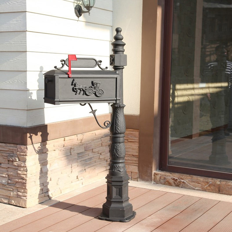 Classic Decorative Cast Aluminum Mail Box Mailboxes by Better Box Mailboxes ...