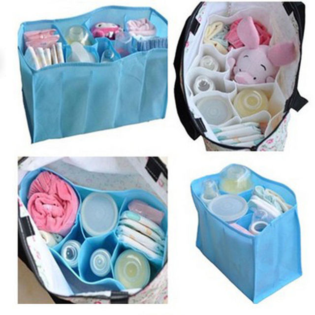 Beautiful Baby Portable Diaper Nappy Water Bottle Changing Divider Storage Organizer Bag Inner Pouch in Bag Cosmetic Bag Cosmetic Bags