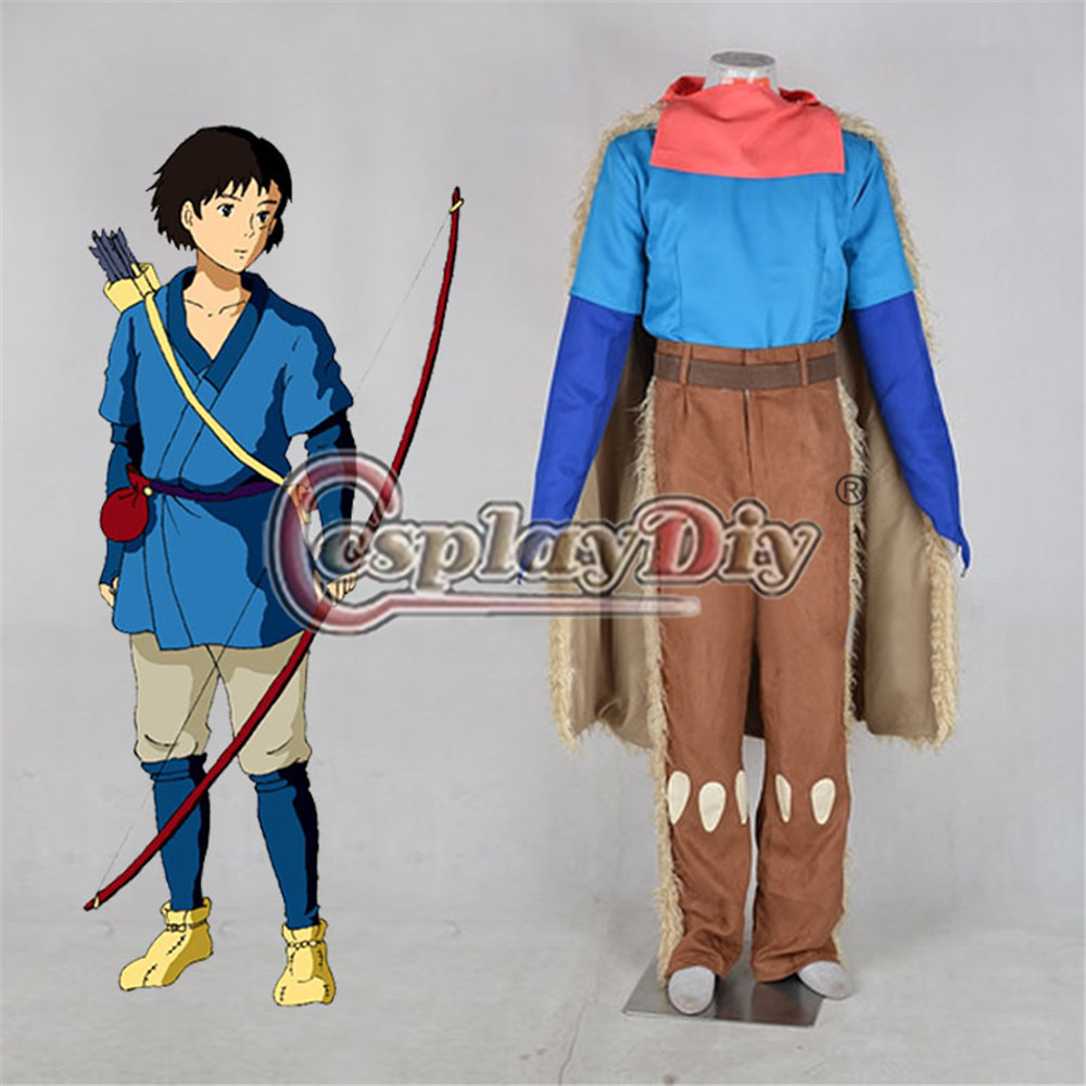 Movie Princess Mononoke Ashitaka Cosplay Costume Adult Carnival Party Cosplay Outfit D0707