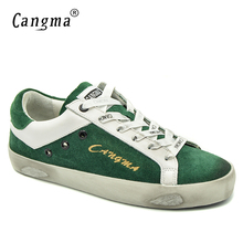 CANGMA Stylish Moccasins Sneakers Women Brand Footwear Cow Suede Leather Genuine Green Ladies Casual Flats Breathable Bass Shoes