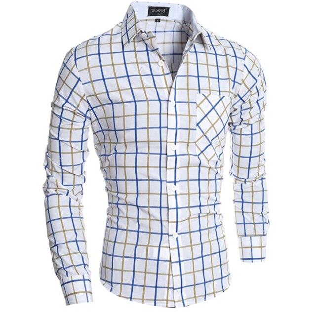 22e1c6617 2016 Brand Camisa Hombre Camisas Vestir Camisa Masculina Shirt Para Marca  Shirt Men Cuadros Hombre Militar