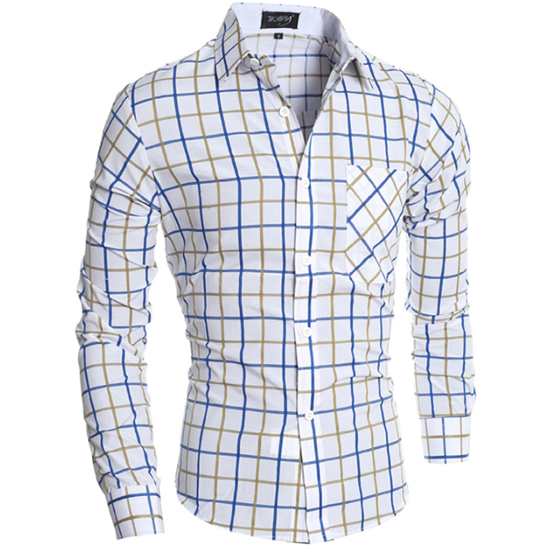 Camisa Cuadros Hombre Merkoverhemden Heren Plaidoverhemd Slim Fit - Herenkleding - Foto 1