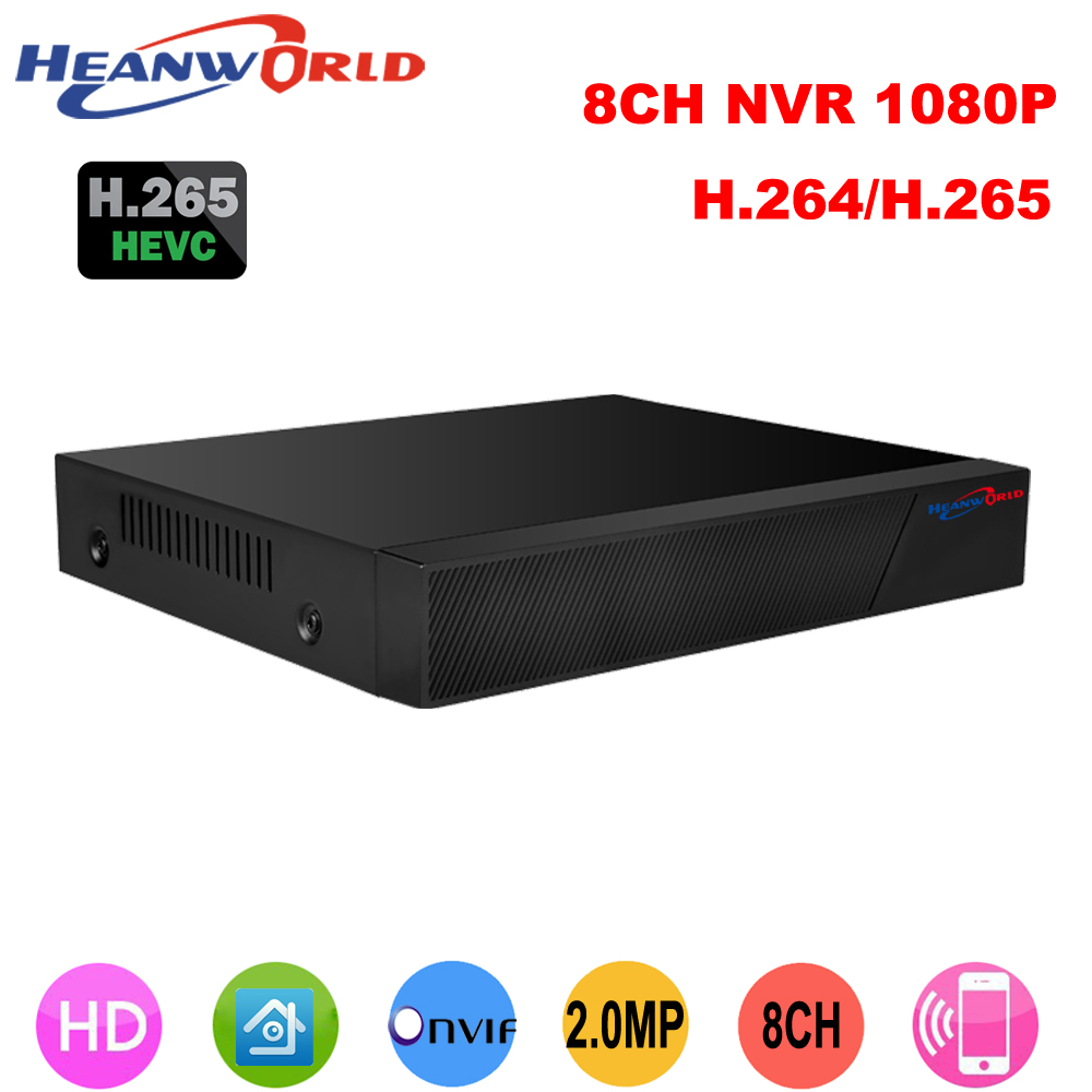 Best CCTV 8CH NVR Onvif H.265 HDMI High Definition 1080P Full HD 8 channel Network Video Recorder CCTV NVR For IP Camera system