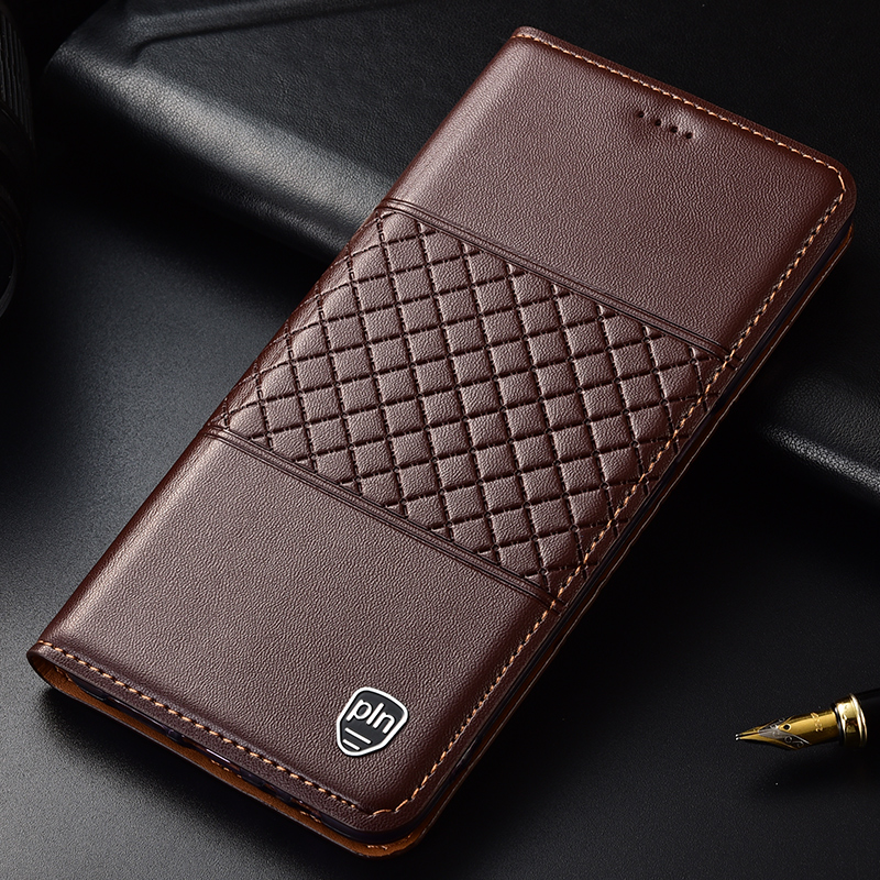 For Xiaomi Redmi Note 6 Pro Case Luxury Flip Wallet Genuine Leather Case For Redmi Note 6 Pro with Stand Card Holder Function
