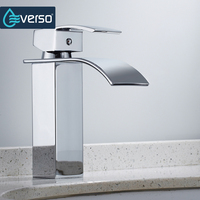 New Design Antique Brass Waterfall Bathroom Faucet Vanity Vessel Basin Mixer Tap Bathroom Sink Faucet Torneira