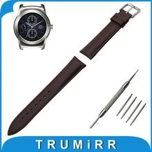 Véritable Bande de Montre En Cuir 22mm pour LG G Watch W100/W110/Urbain W150 Inoxydable Boucle Courroie de Poignet Bracelet Noir brun